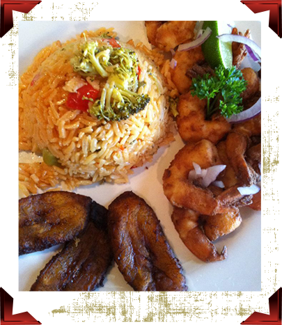 Camarones Fritos con Arroz Amarillo y Maduro | Fried Shrimp with Rice and Plantain