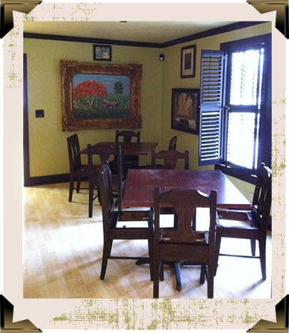 Spacious dining areas